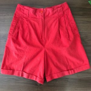 Vintage High Waist Dressy Shorts